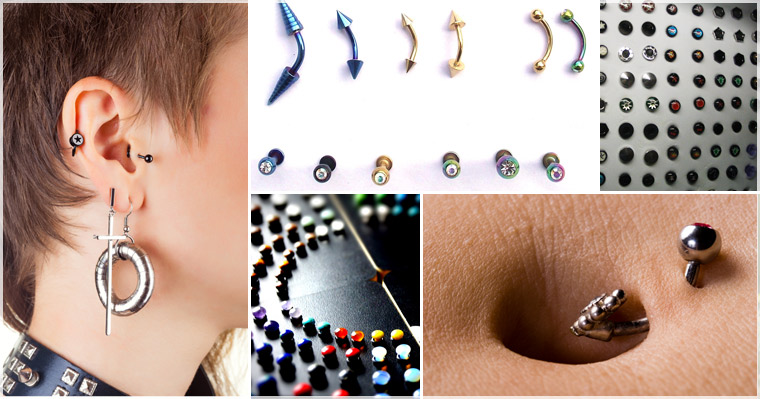 Puff N Stuff Body Jewelry Rings Studs Plugs Body Facial Piercing